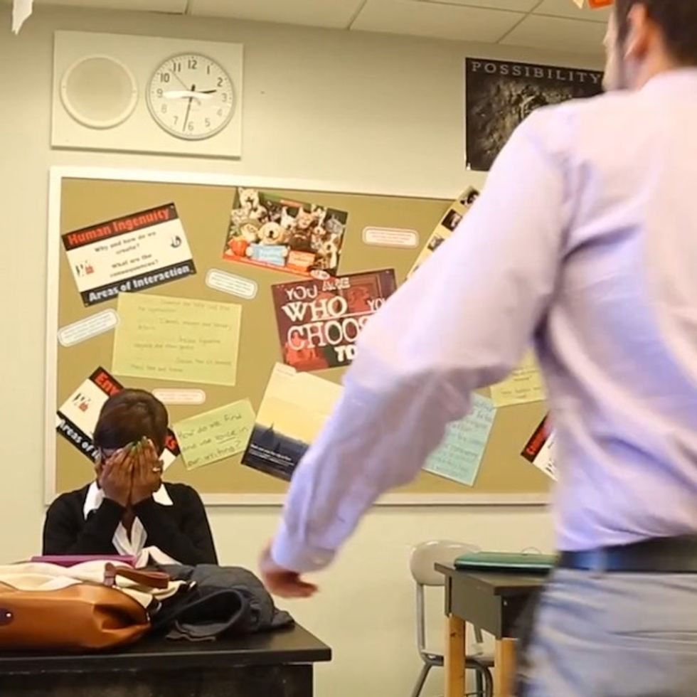 Teacher Caught On Camera Making A Student Cry. It's Actually Pretty Amazing.