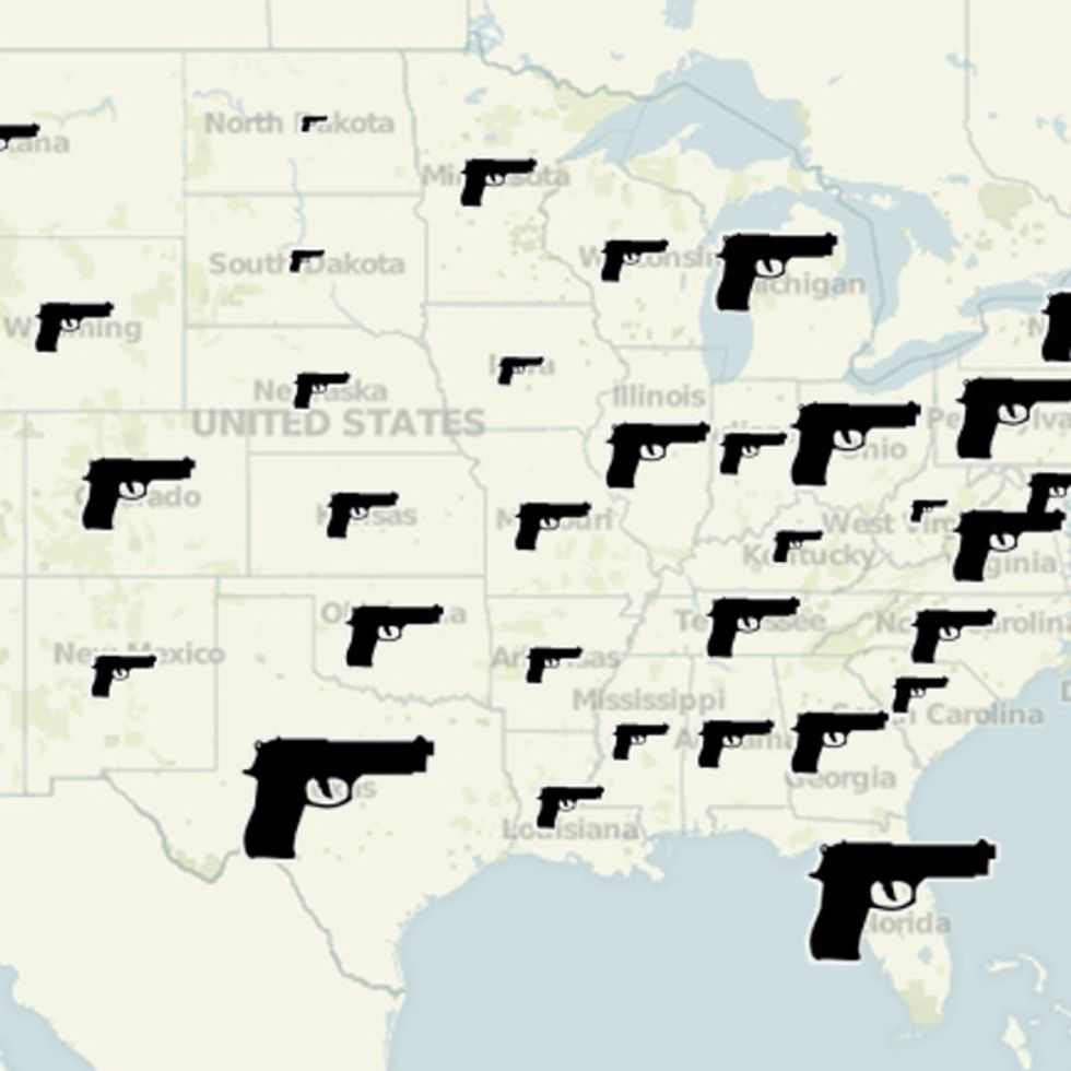 This Map Won't Tell You Where You Are, But It Will Tell You How Much NRA Money Is In Your State