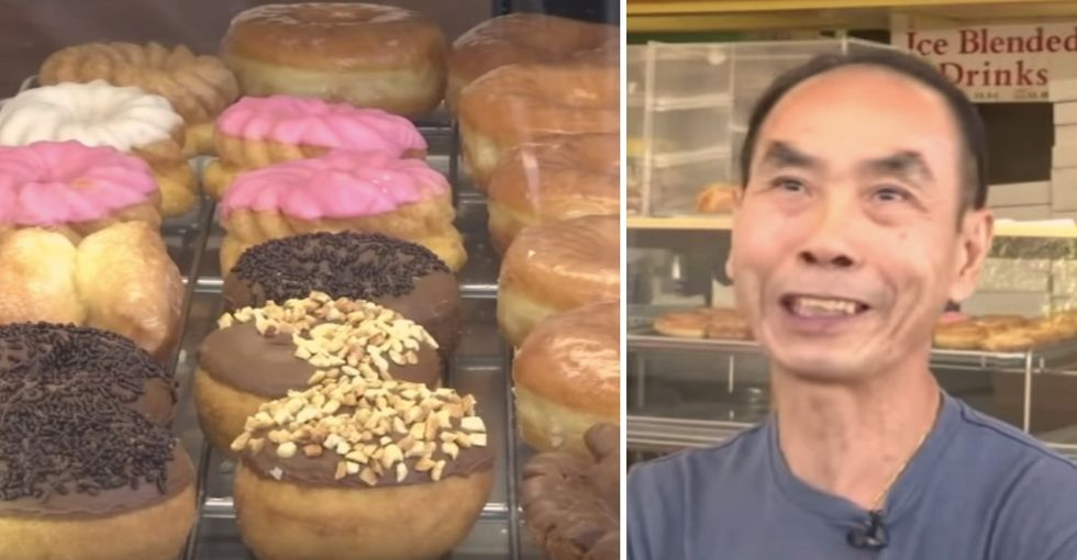 Customers bought all this store's donuts early each morning so a loyal husband could visit his wife in the hospital