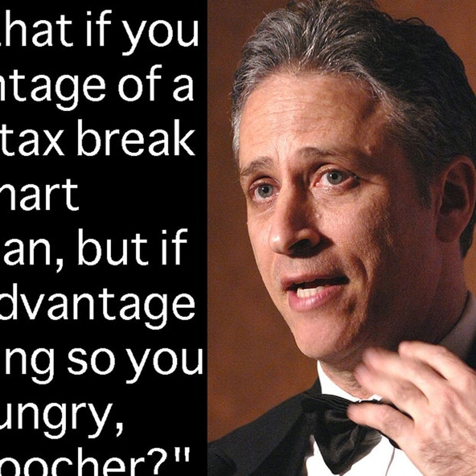 Jon Stewart Pins Down The Media With Their Own Words