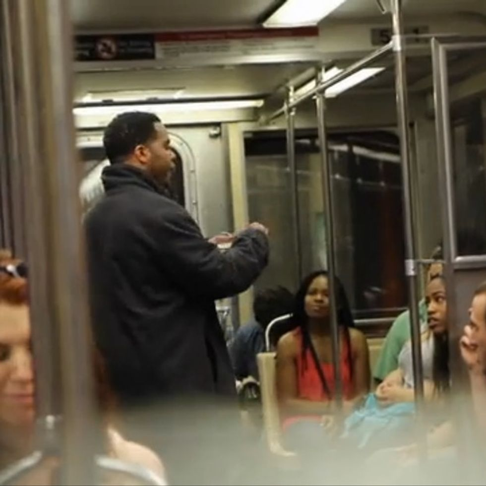 Subway Car Prank Teaches A Little Lesson On Not Being So Quick To Judge People