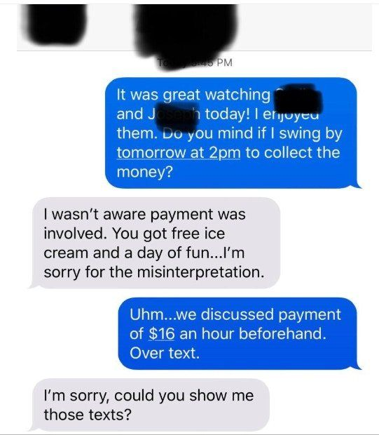 World's stingiest mom tries to pay babysitter in 'ice cream