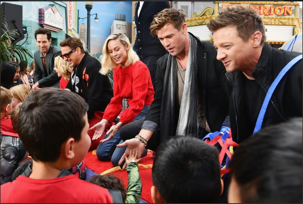 The real-life heroes of the Avengers surprised children's hospitals with a $5 million donation.