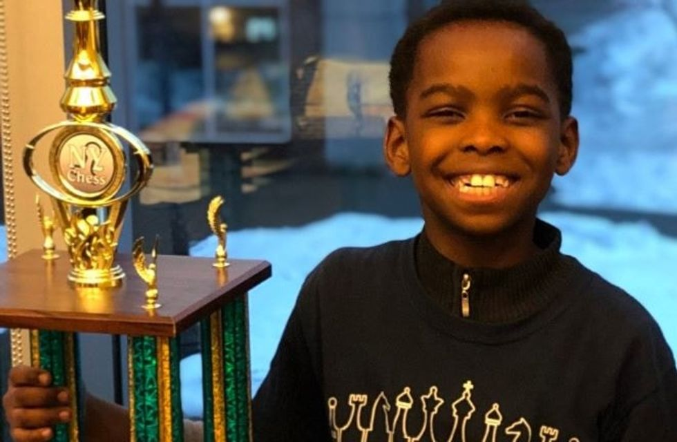 Eight-year-old homeless refugee wins a chess championship, inspires a tidal wave of generosity.