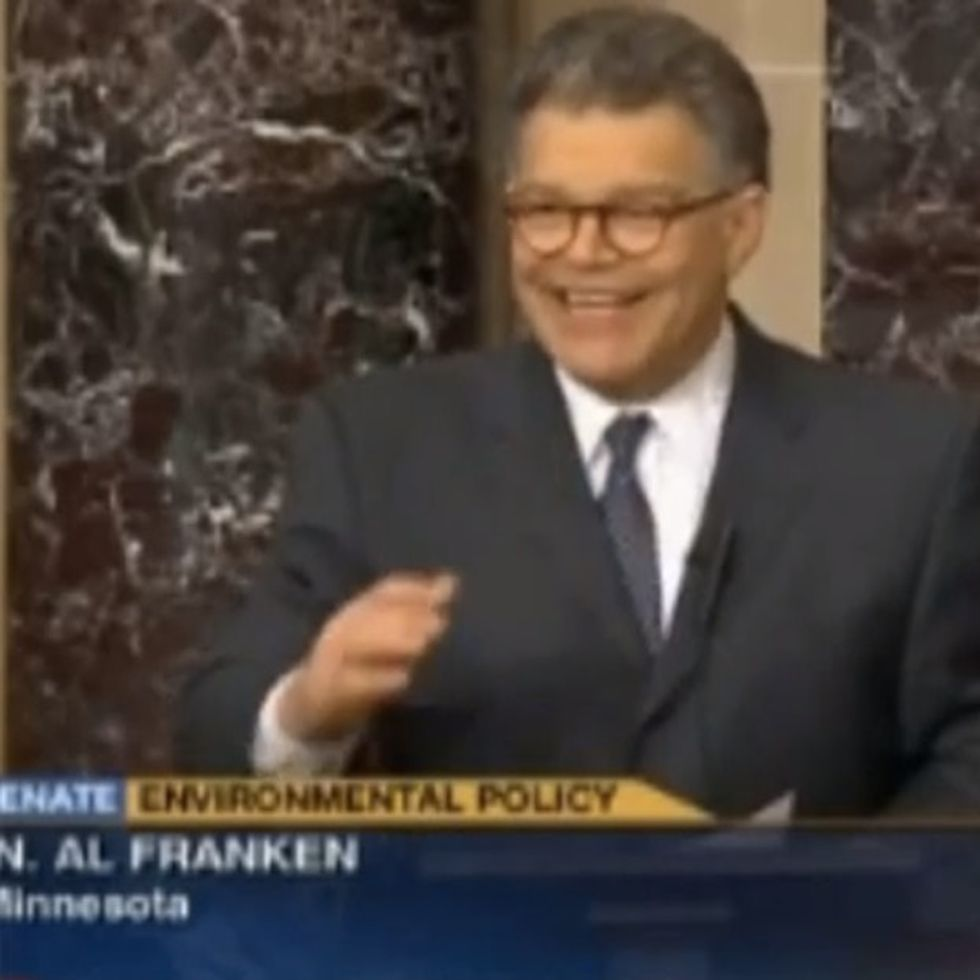Al Franken Forced To Use Kid's Analogy To Help Other Senators Understand That Science Is Real
