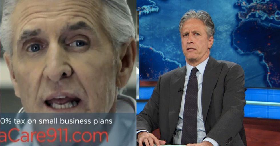 Jon Stewart's 2 Sickening Loopholes For Cutting Employee Health Care