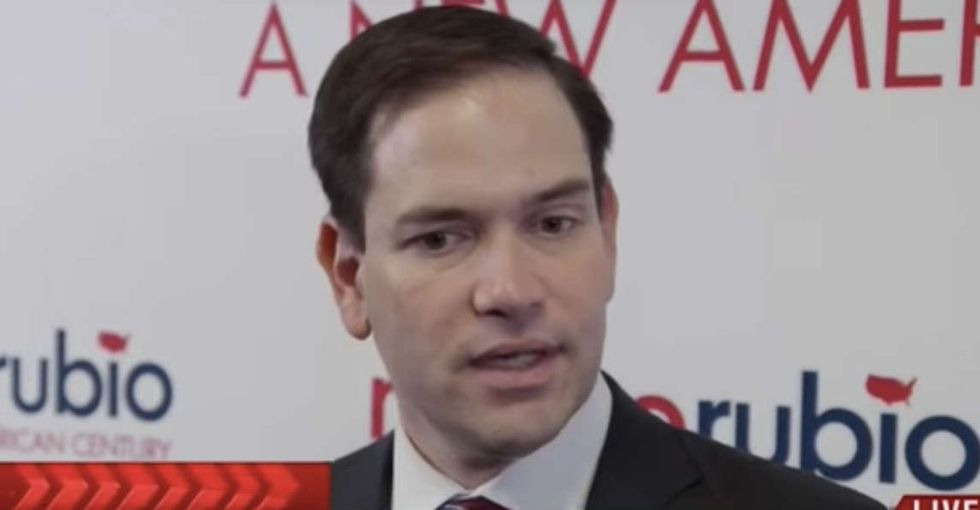 Marco Rubio's emotional tirade against Donald Trump is required viewing for every voter.