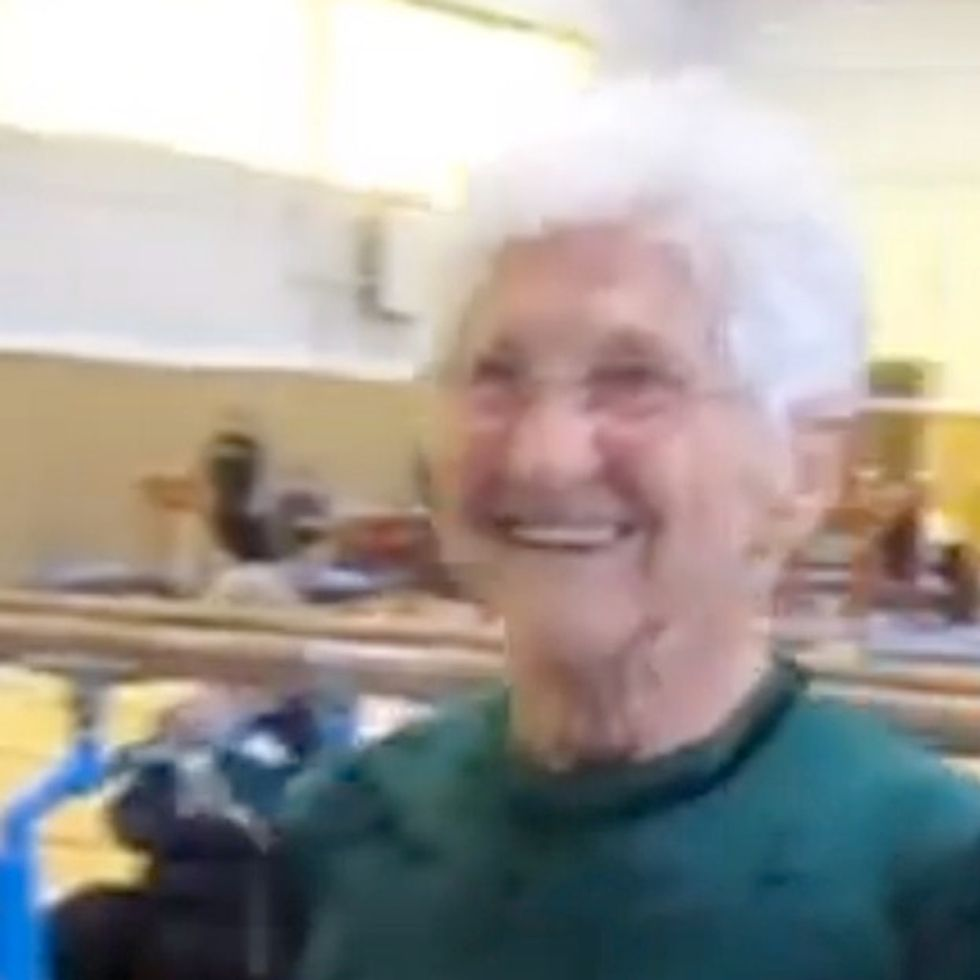 Why's The 86-Year-Old Wearing A Leotard? Oh, You Know, Because She's An Awesome Gymnast.