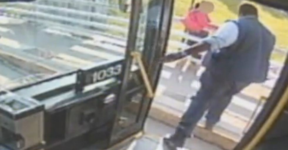 A Bus Driver Just Saw A Terrible Situation And Hit The Brakes To Save A Woman's Life