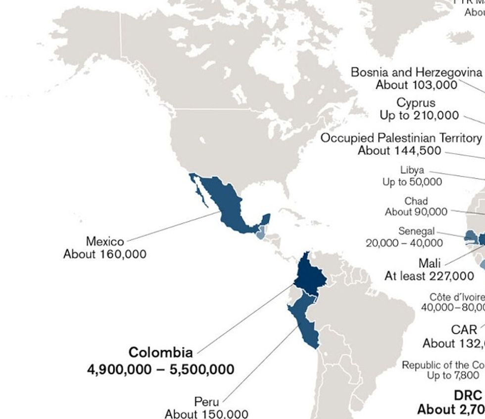 Map: the unbelievable number of people without a home to go back to.