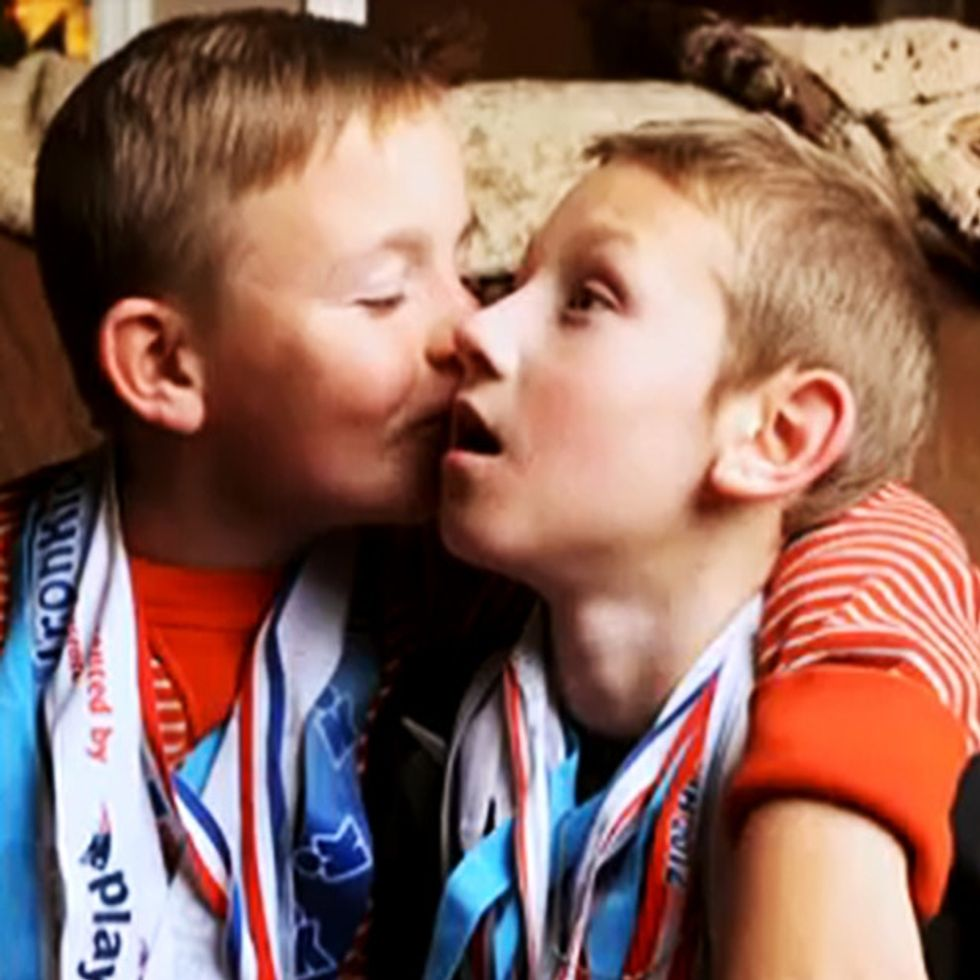 When Faced With His Brother's Disability, This Big Brother Decides To Run With It