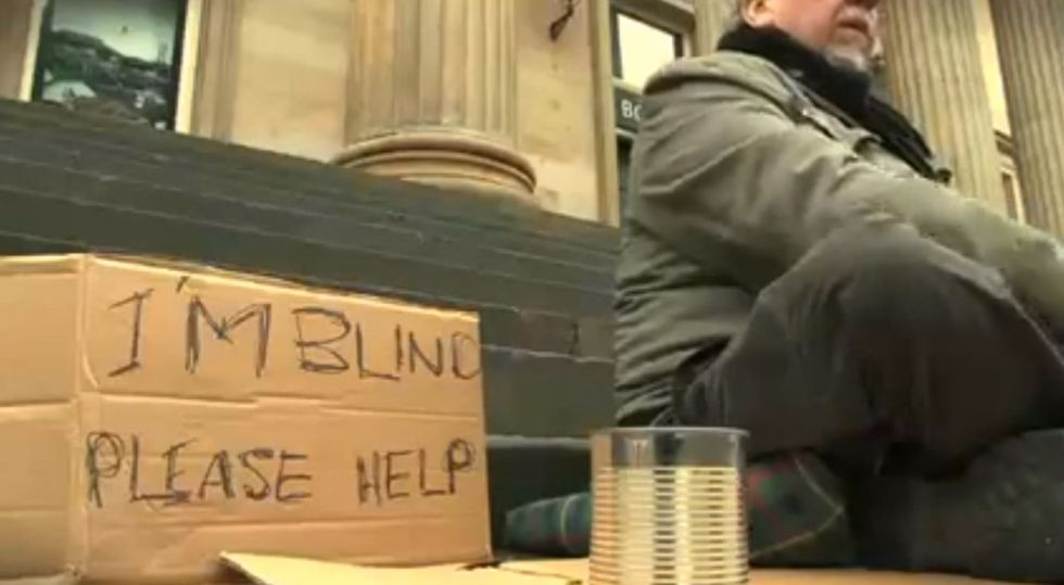 If You Had A Chance To Help A Blind Man, Would You Do It Like This?