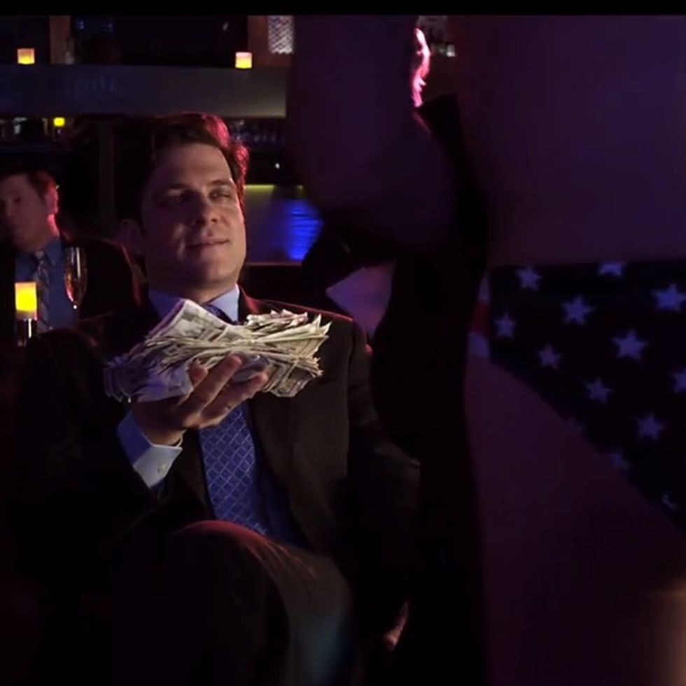 Scandal: Politician goes to strip club and... Well, I was definitely not expecting that.