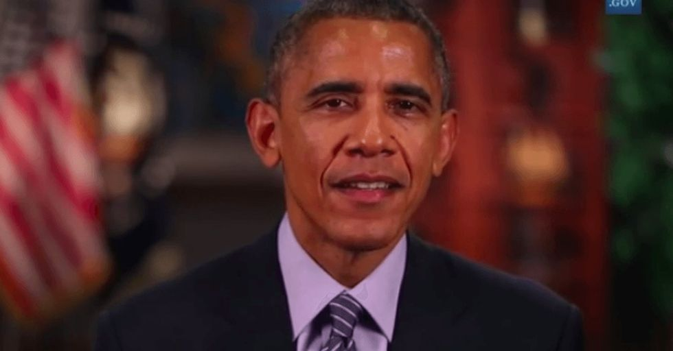 President Obama interrupted the Grammys to make a statement more remarkable than any award or dress.