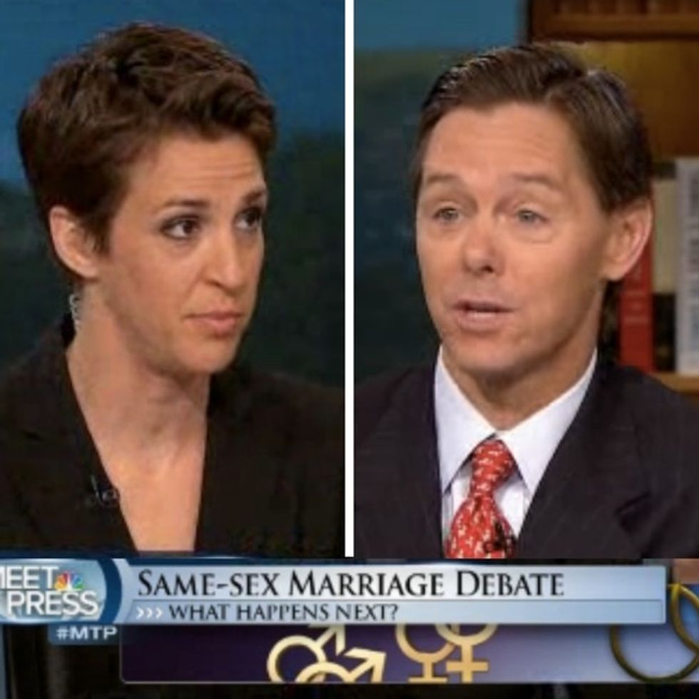 It Only Took Rachel Maddow 48 Seconds To Tear Down An Anti-Gay Zealot's Outdated Ideas On Marriage
