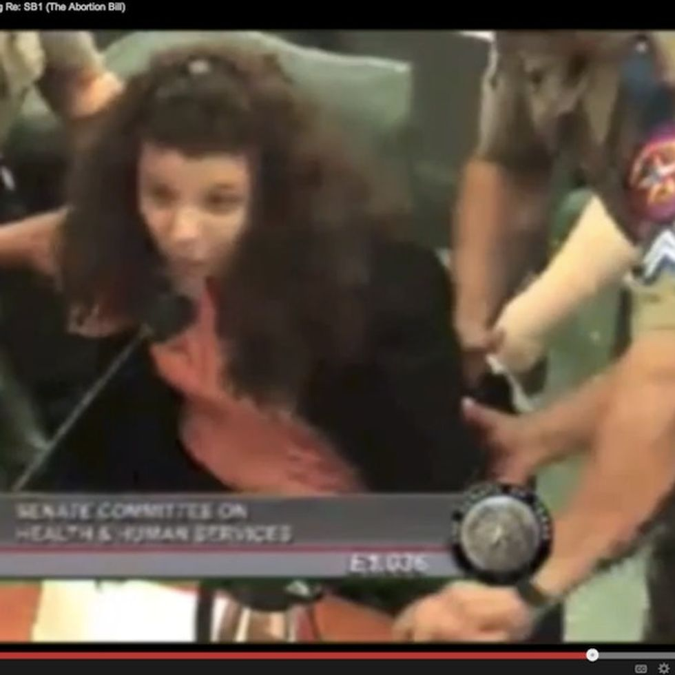A Texas Woman Gets Dragged From The Stand While Criticizing The Way Texas Treats Women