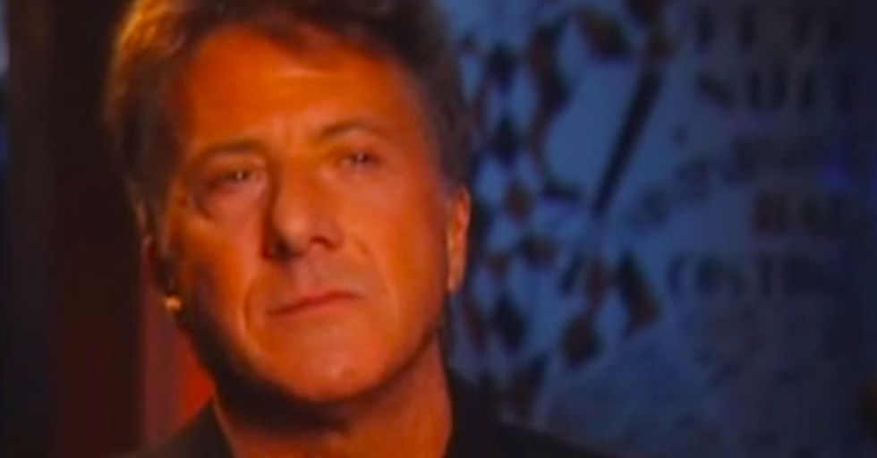 Dustin Hoffman breaks down crying explaining something that every woman sadly already experienced.