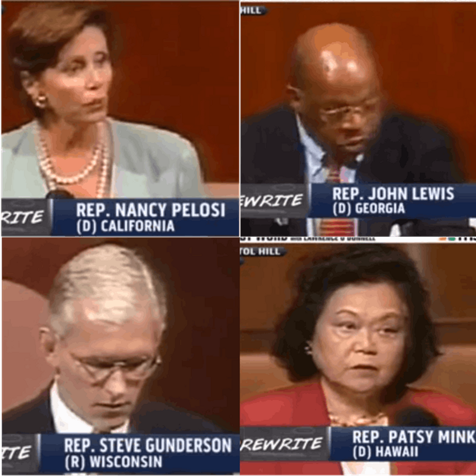 WATCH: Your Duly Elected Representatives Standing Up For Their Principles Before It Was Cool