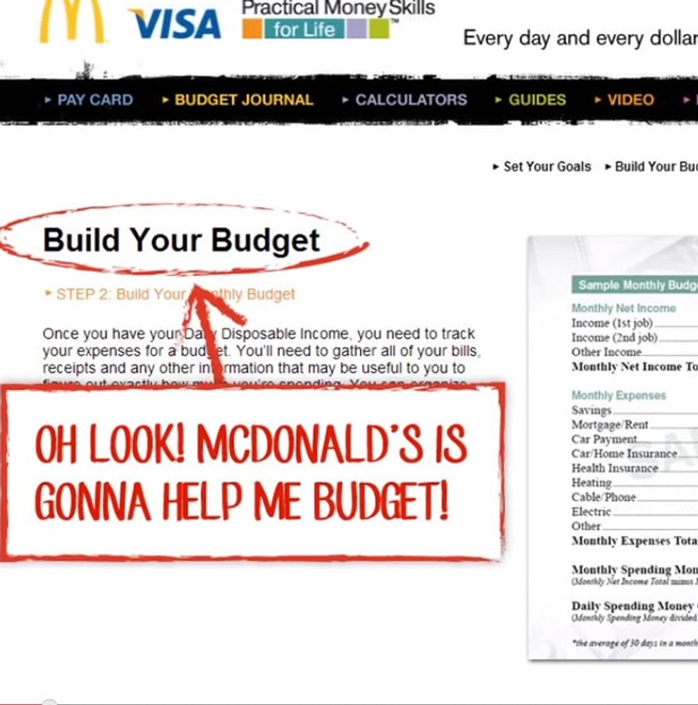 McDonald's Made A Budget Planner For Its Workers. You Won't Believe What It Says.