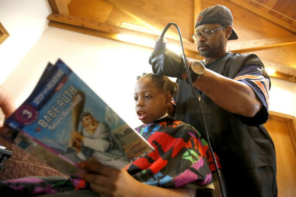 The most clever barber in America? He's certainly the most generous.