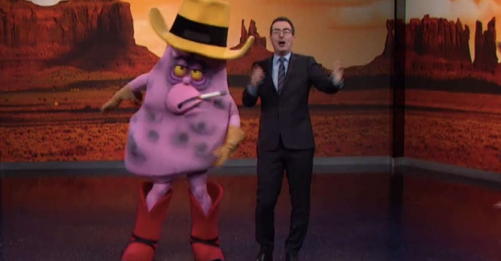 John Oliver came up with a brilliant scheme to take down one of the world's most evil companies.