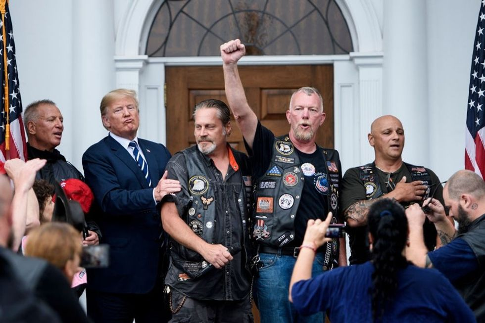 Trump wanted to look tough posing with bikers. It backfired in a major way.