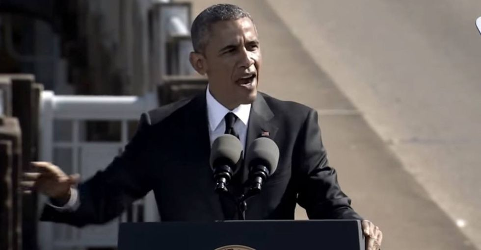 There's something powerful about hearing the first black president say these words in Selma.