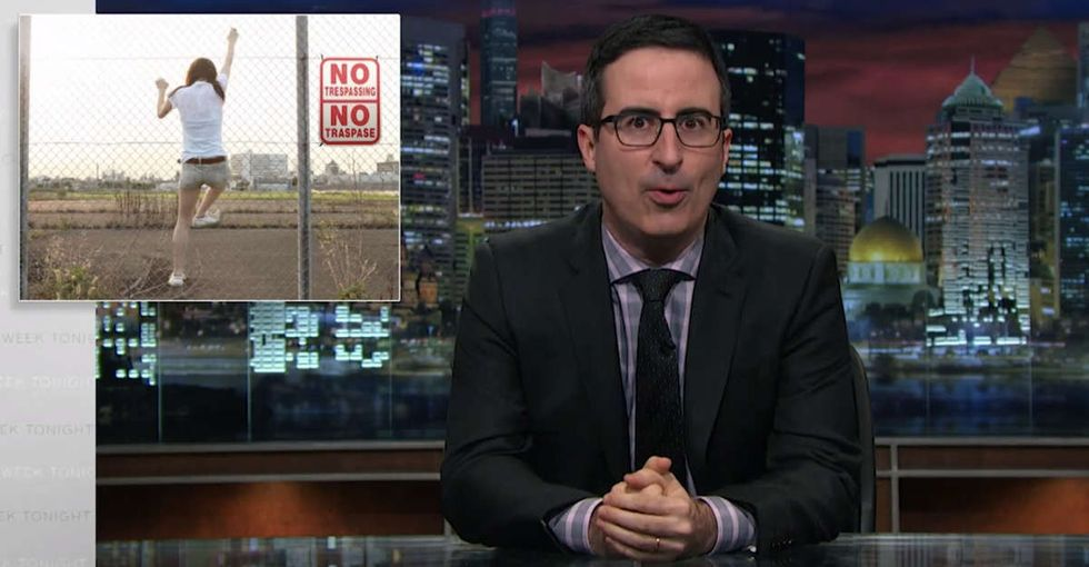 John Oliver goes off on a terrible practice that was supposed to be outlawed in the 1830s.