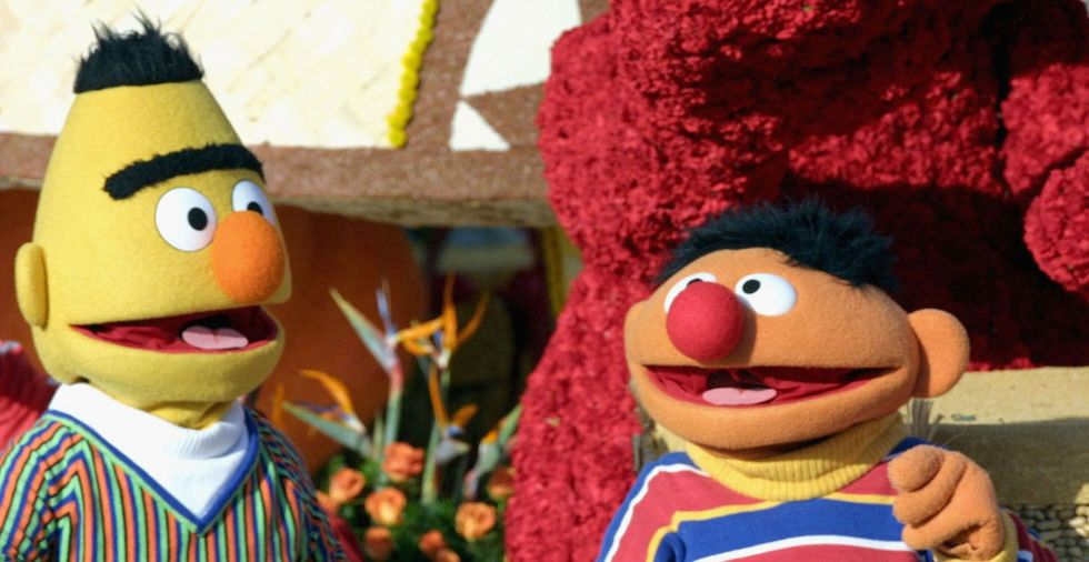 Bert and Ernie are gay just like I've been telling you forever.