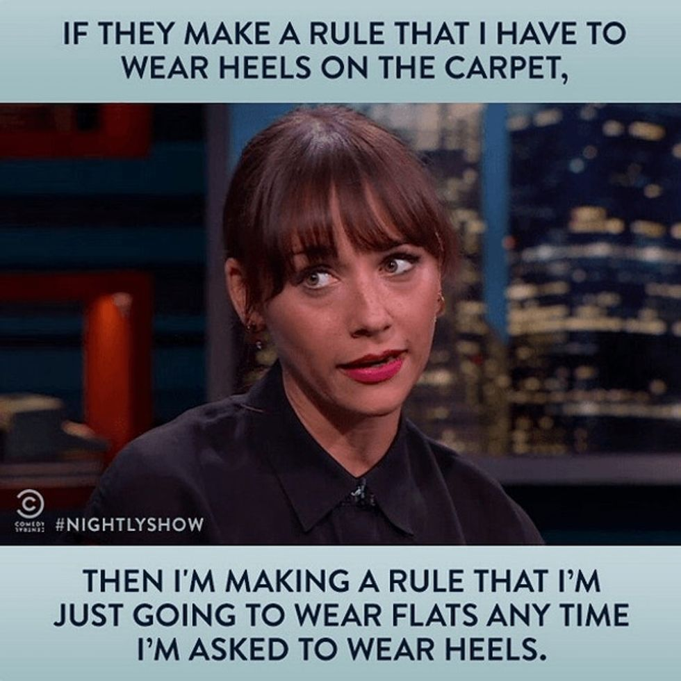 After Cannes turned away women wearing flats, actress Rashida Jones responded with her own rule.