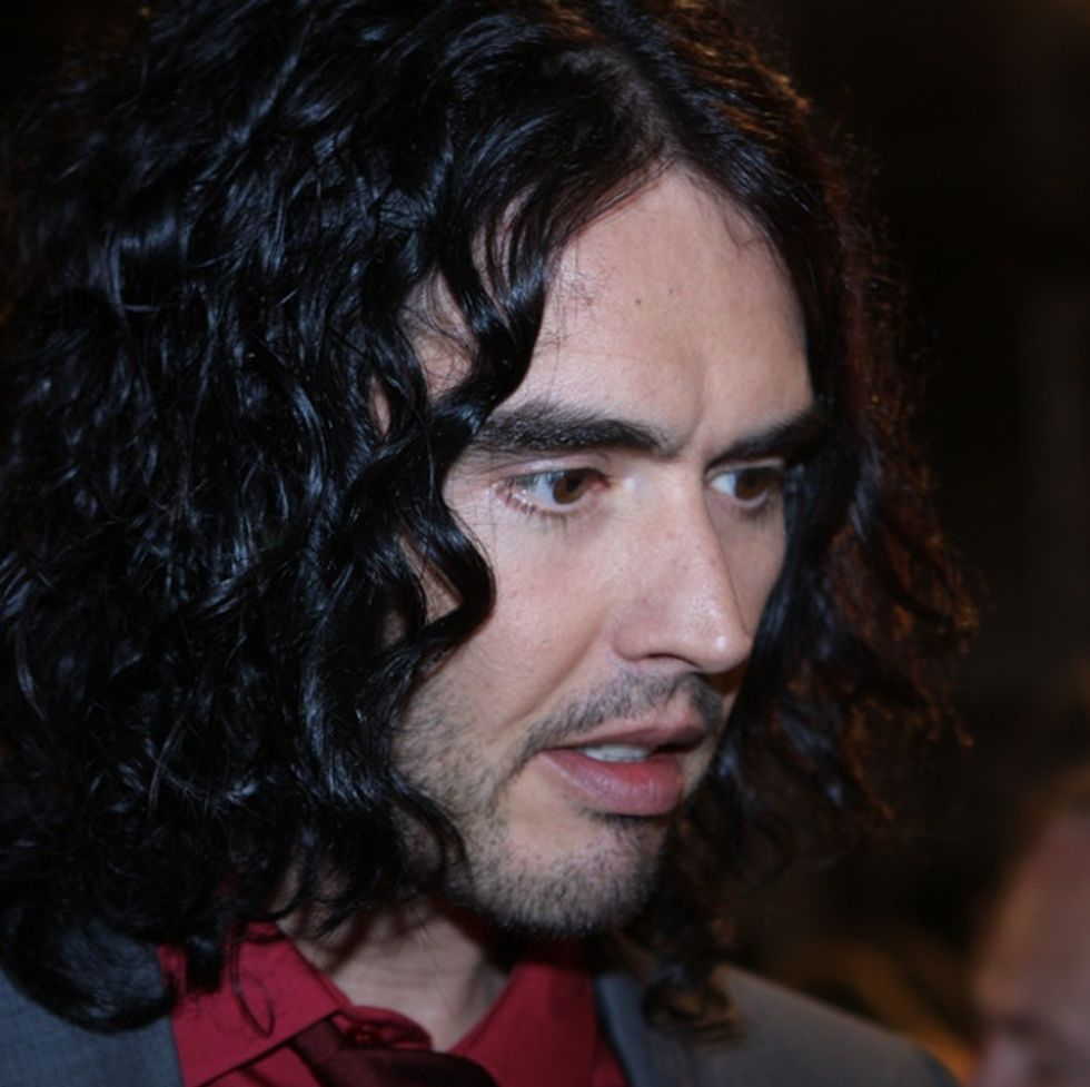 Watch the moment Russell Brand rips into a big, famous brand with a terrible past.