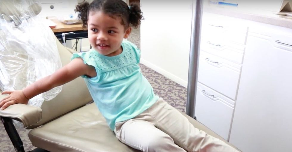A dad worries his 3-year-old will lose it at the dentist. Right idea. Wrong person.