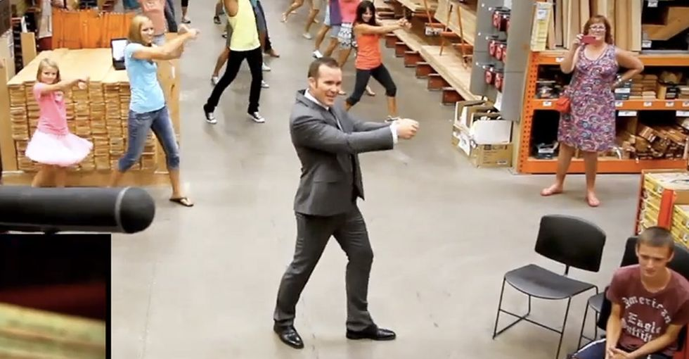 Beautiful Flash Mob Of Marriage Proposal Adorableness, Aisle 10