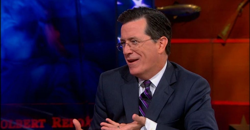 Step 1: Get Job. Step 2: Work Hard. Step 3: Receive Paycheck So Tiny Colbert Makes Fun Of It.