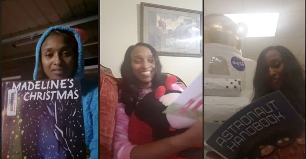 This school principal who reads bedtime stories online to her students is what they mean by an 'everyday hero.'