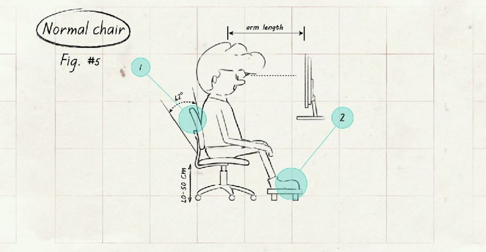 If Your Work Or Home Life Involves Sitting, You Really Should Watch A 3-Minute Clip About ... Well, Sitting!