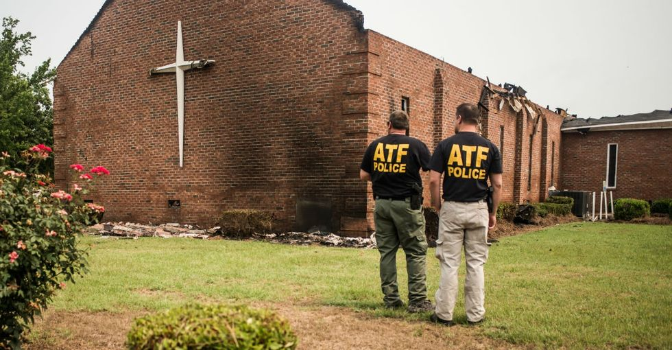 Muslims stand with Christians, raising money for burned churches. Beliefs in action are beautiful.
