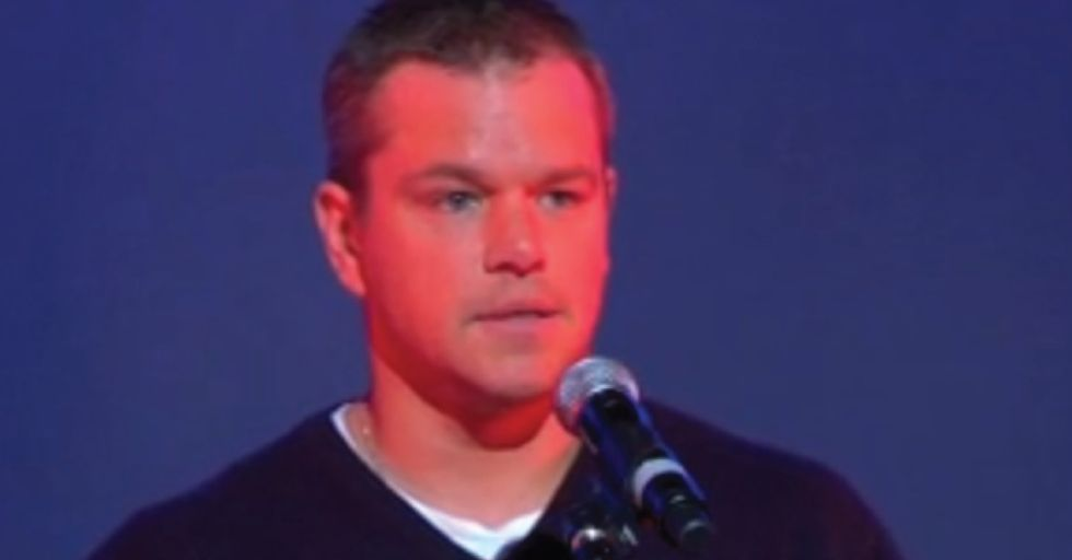 One of Matt Damon's finest performances was never in theaters.