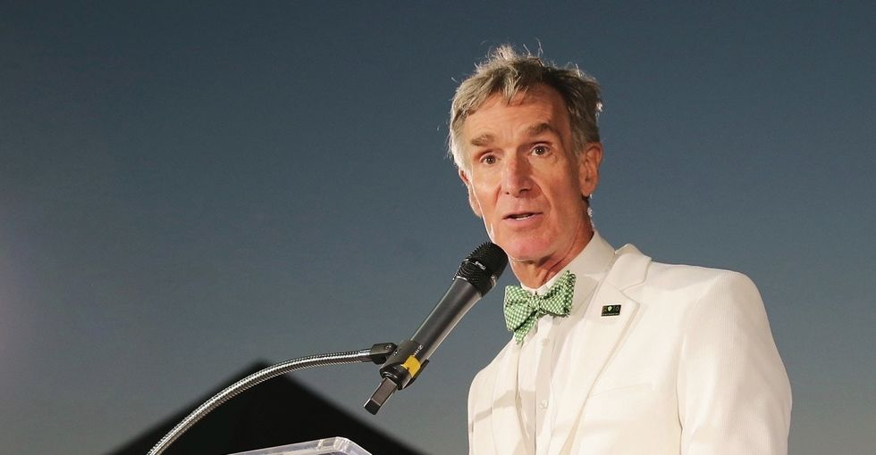 Bill Nye is pulling out all the stops when he talks about climate change. It's glorious.
