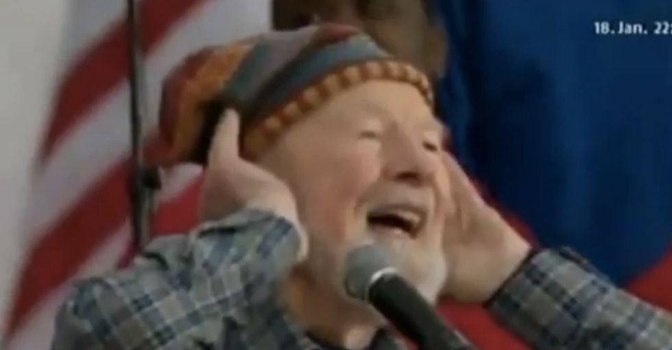 Here's Pete Seeger doing one of the songs he loved so much.