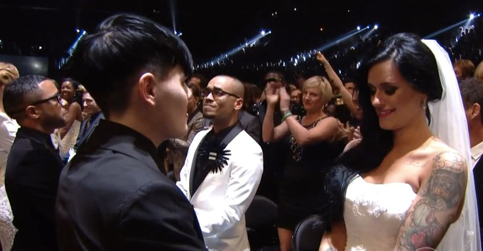 Watch 33 Gay And Straight Couples Get Married On The Grammys Without Hurting Anyone Else's Marriage