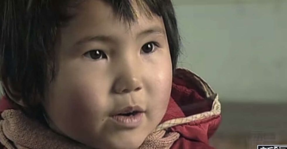 She asks the little girl 3 questions about her life. Her answers are pretty devastating.