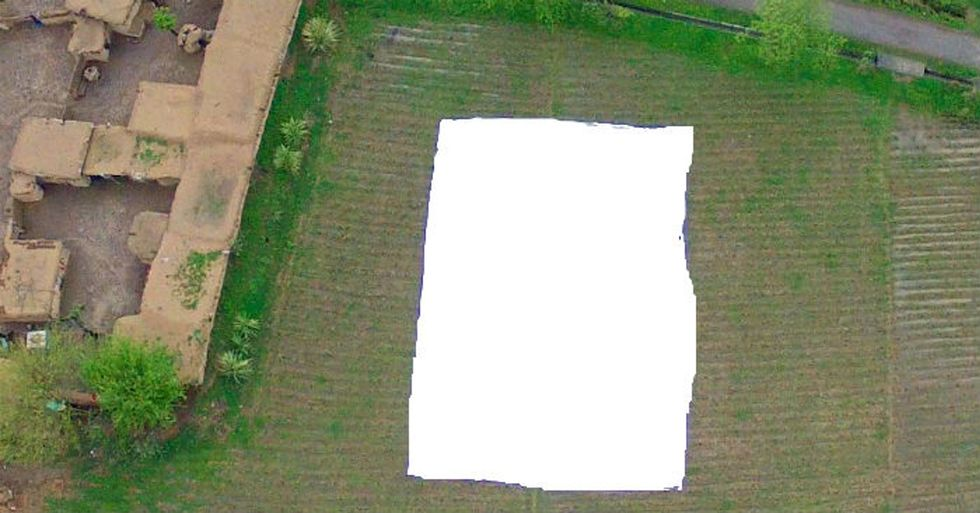 A Genius Piece Of Art Forces Drone Pilots To See Who's Down Below