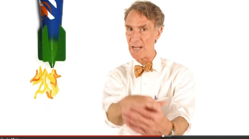 Why Is Bill Nye Acting Like A Lunatic? Because He Doesn't Want To Get Blown Up, That's Why.