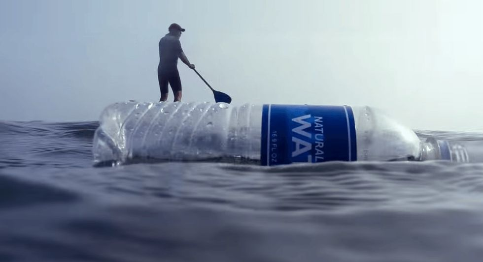 A plastic bottle finds its way home, but its original owner is not so happy to see it.