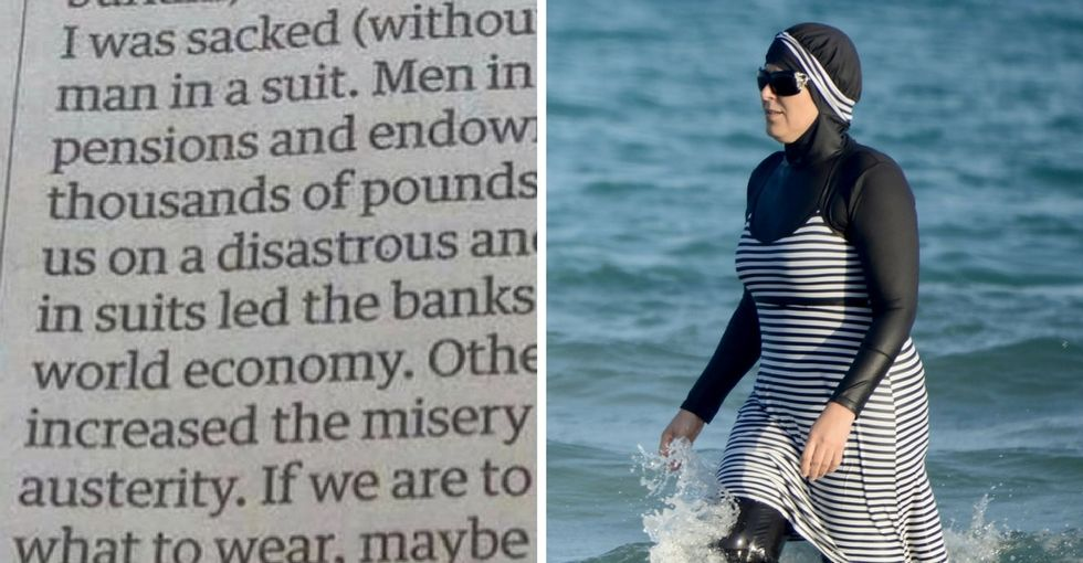 A guy penned a glorious letter on why we should ban 'men in suits,' not burkinis.