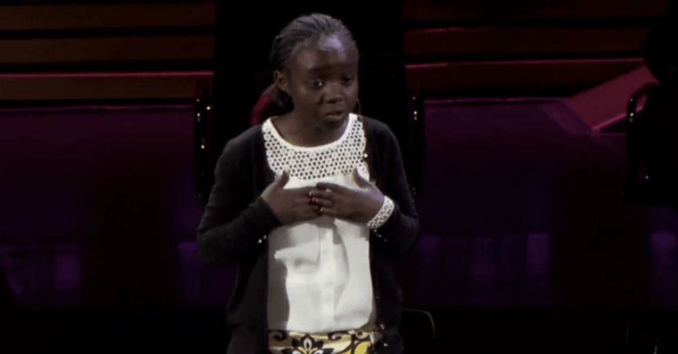 Don't be fooled by her size. This Kenyan sixth-grader knows how to own an audience.