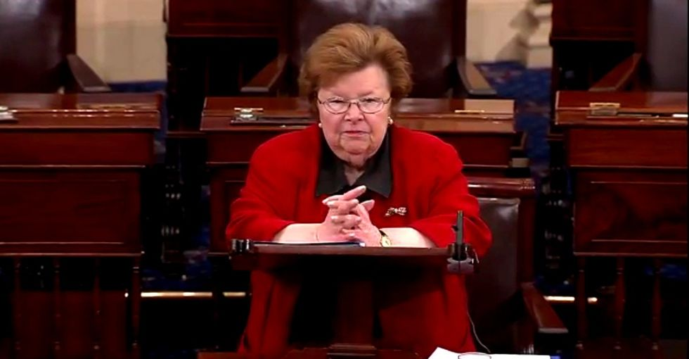 Tired of being told women are too emotional, one senator shows what it looks like to get emotional.