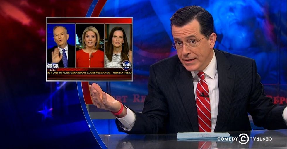 When 2 Women On Fox News Are Faced With Bill O'Reilly's Sexism, Stephen Colbert Strikes Comedy Gold