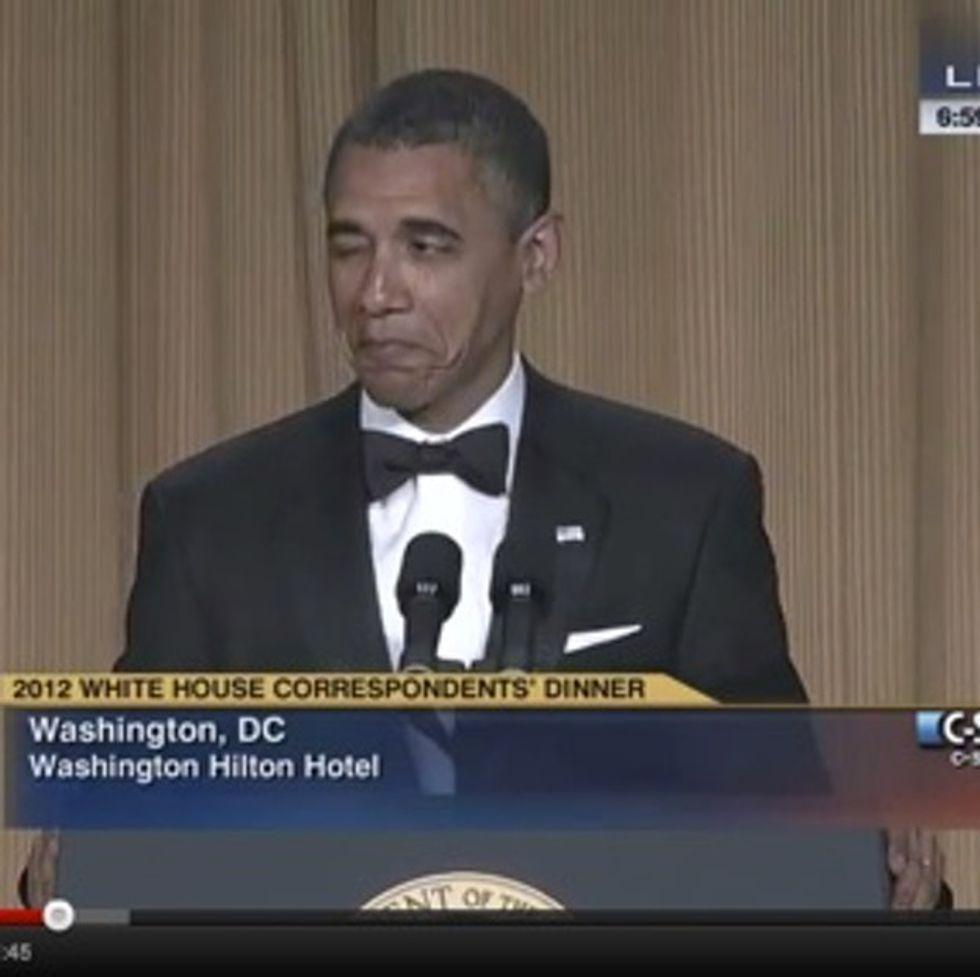 Epic video: Obama. Correspondents' dinner. Smackdown.